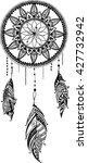 hand drawn mandala dreamcatcher ...   Shutterstock .eps vector #427732942