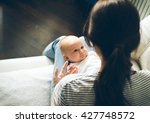 newborn baby infant with mother ... | Shutterstock . vector #427748572