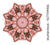 mandala pattern. doodle drawing.... | Shutterstock . vector #427749406