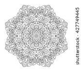 mandala pattern. doodle drawing.... | Shutterstock . vector #427749445