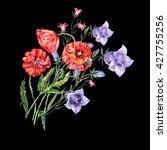 bouquet  blue bell flower  pink ... | Shutterstock . vector #427755256