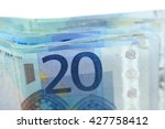 close up of stacked 20 euro... | Shutterstock . vector #427758412