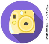 yellow instant photo camera old ... | Shutterstock .eps vector #427759912