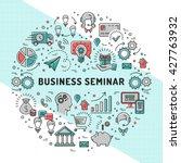 vector business seminar design... | Shutterstock .eps vector #427763932