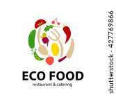 simple flat food logo.... | Shutterstock . vector #427769866