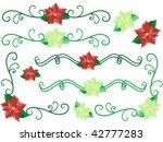 christmas flower borders  ... | Shutterstock .eps vector #42777283