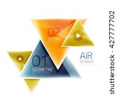 air triangle abstract... | Shutterstock .eps vector #427777702