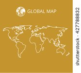 world map contour vector... | Shutterstock .eps vector #427788832