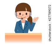 female call centre operator... | Shutterstock .eps vector #427789072