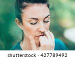 breathing exercise pranayama  ...   Shutterstock . vector #427789492