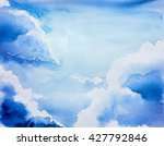 sky watercolor | Shutterstock . vector #427792846
