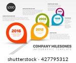 vector infographic timeline... | Shutterstock .eps vector #427795312