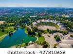 aerial view of olympiapark in... | Shutterstock . vector #427810636