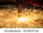 plasma or laser cutting... | Shutterstock . vector #427814716