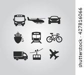 transportation icons | Shutterstock .eps vector #427816066