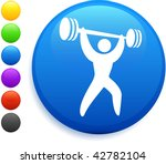 weightlifter icon on round... | Shutterstock .eps vector #42782104