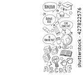 language school doodle vector... | Shutterstock .eps vector #427822576