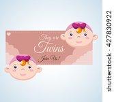 baby shower design. invitation... | Shutterstock .eps vector #427830922