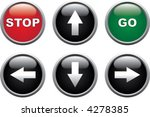 stop  go and arrows buttons | Shutterstock .eps vector #4278385
