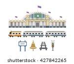 railway station in thailand... | Shutterstock .eps vector #427842265