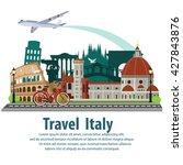 illustration vector. travel the ... | Shutterstock .eps vector #427843876
