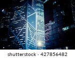 abstract futuristic night... | Shutterstock . vector #427856482