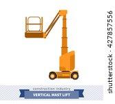 aerial man vertical mast lift... | Shutterstock .eps vector #427857556