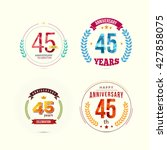 45 years anniversary set with... | Shutterstock .eps vector #427858075