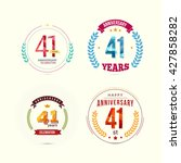 41 years anniversary set with... | Shutterstock .eps vector #427858282