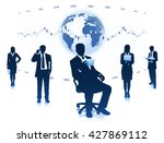 group of businessmen and... | Shutterstock .eps vector #427869112