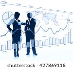 business people looking at a... | Shutterstock .eps vector #427869118