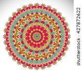 mandala  vector mandala  floral ... | Shutterstock .eps vector #427872622