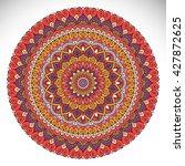 flower mandalas. vintage... | Shutterstock .eps vector #427872625
