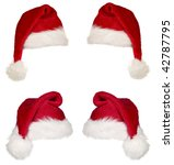 a red christmas cap with white... | Shutterstock . vector #42787795