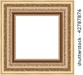 a picture frame on a white | Shutterstock . vector #42787876
