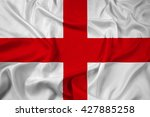waving flag of genoa | Shutterstock . vector #427885258