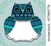 Cute Owl With Ethnic Ornament...
