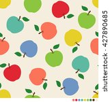Colorful Apples Seamless Vecto...