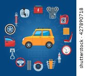 car parts concept icons set.... | Shutterstock .eps vector #427890718