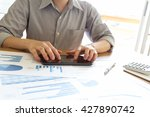 business people analyzing graph ... | Shutterstock . vector #427890742