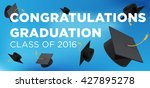 graduation poster. throwing... | Shutterstock .eps vector #427895278