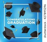 graduation poster. throwing... | Shutterstock .eps vector #427895296