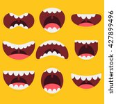 funny mouths and expressions | Shutterstock .eps vector #427899496