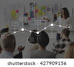 planning process step workflow... | Shutterstock . vector #427909156