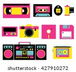 retro devices set. 80s   90s... | Shutterstock .eps vector #427910272