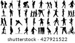 children silhouettes playing... | Shutterstock .eps vector #427921522