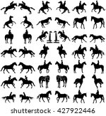 horse collection   vector... | Shutterstock .eps vector #427922446