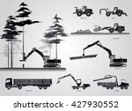 the harvesters. the forestry... | Shutterstock .eps vector #427930552