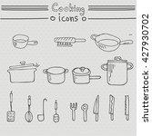 set of cooking element hand... | Shutterstock .eps vector #427930702