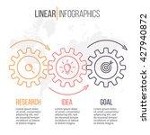 linear infographics. timeline... | Shutterstock .eps vector #427940872